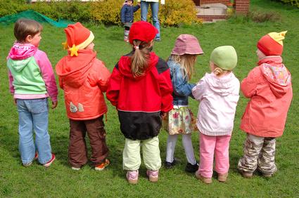 preschool children playing